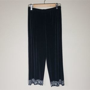 Chico's Travelers Black Pants Cutout Hem 1 / M / 8
